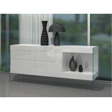 Modrest Aura - Modern Floating White Buffet