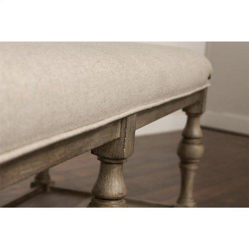 Juniper - 54-inch Upholstered Dining Bench - Natural Finish