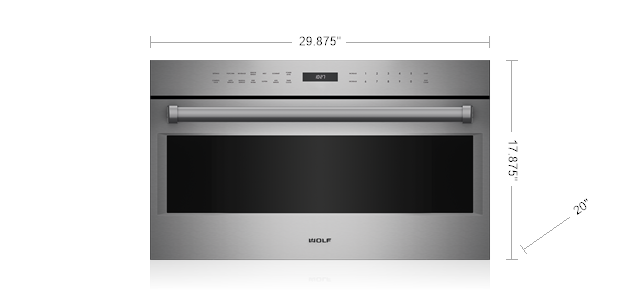 "Wolf30"" E Series Professional Drop-Down Door Microwave Oven"