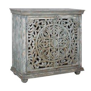 CRESTVIEW COLLECTIONSBengal Manor Mango Wood Carved 2 Door Cabinet
