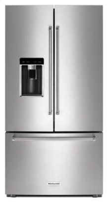 """Almost Blemished - 23.8 cu. ft. 36"""" Counter-Depth French Door Platinum Interior Refrigerator with PrintShield Finish - Stainless Steel with PrintShield™ Finish"""