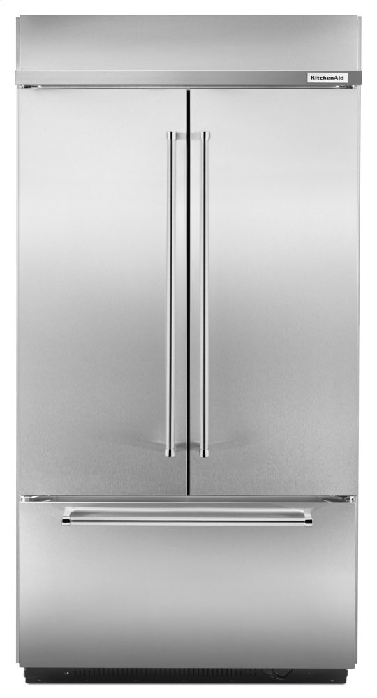 "Kitchenaid24.2 Cu. Ft. 42"" Width Built-In Stainless French Door Refrigerator With Platinum Interior Design - Stainless Steel"