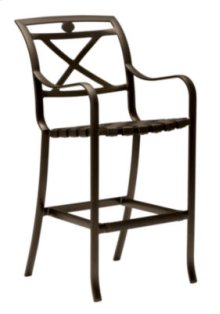Palladian Strap Bar Stool - X- Back