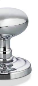 Traditional Beaded Narrow Plate Knob Latchset in US26 (Polished Chrome Plated) Product Image