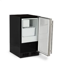 """Marvel 15"""" ADA Height Crescent Ice Machine - Solid Stainless Steel Door - Left Hinge"""