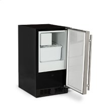 "Marvel 15"" ADA Height Crescent Ice Machine - Solid Stainless Steel Door - Left Hinge"