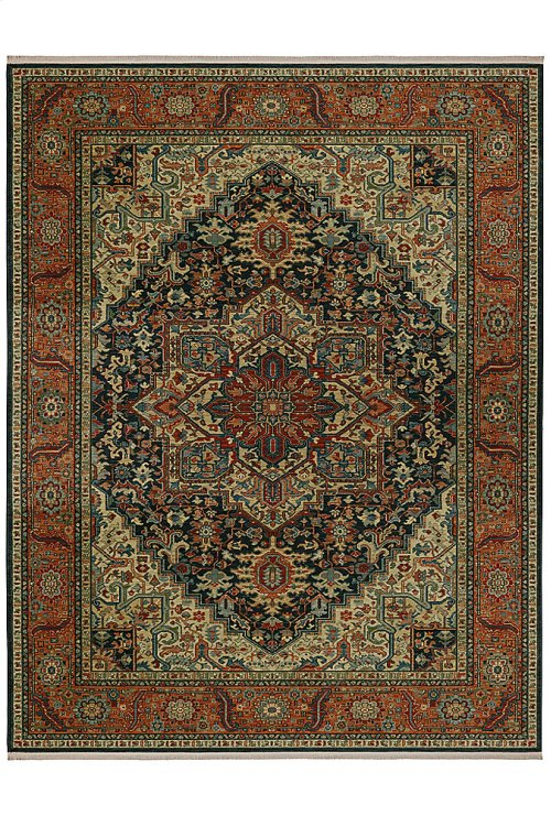 Maharajah Navy Rectangle 8ft 8in x 12ft
