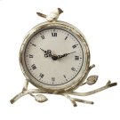 Distressed Ivory Desk Clock with Bird. Product Image