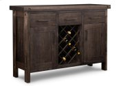 Rafters Sideboard w/2 Wood Doors & 3/Dwrs & 2/Wood Adjust. & Wine Rack
