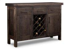 Rafters Sideboard w/2 Wood Doors & 3/Dwrs & 2/Wood Adjust. & Wine Rack