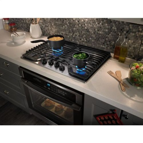 Amana® 30-inch Gas Cooktop with 4 Burners - Stainless Steel