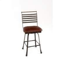 Steel Traditions - Chandler Swivel Barstool With Leather Seat