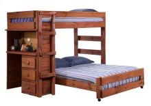 MAH4973  Twin/Full Loft Bed w/Desk Unit