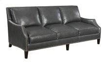 Sofa-charcoal Leather