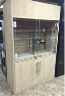 Custom Two Section Wine Cabinet - Scratch n Dent Product Image