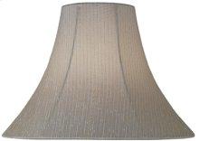 """Light Beige Fabric Bell Shade - 6""""tx16""""bx12""""sl"""