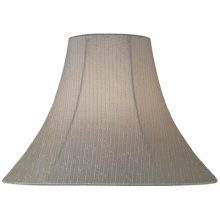 "Light Beige Fabric Bell Shade - 6""tx16""bx12""sl"