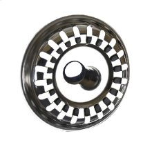 """3-1/2"""" Deluxe Stemball Kitchen Sink Strainer - Basket Only - Brushed Nickel"""