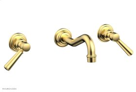 HENRI Wall Tub Set - Lever Handles 161-57 - Satin Gold