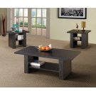 Contemporary Black Oak Three-piece Table Set Product Image