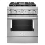 KitchenaidKitchenAid(R) 30'' Smart Commercial-Style Dual Fuel Range with 4 Burners - Stainless Steel