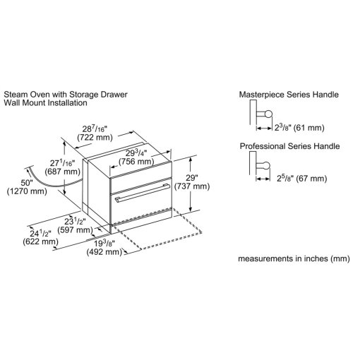 30-Inch Storage Drawer Short with Push to Open