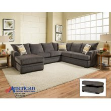 6800 - Perth Smoke 2-Piece Sectional