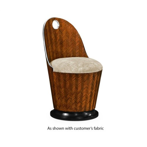 Feather Inlay Dressing Chair, Upholstered in COM
