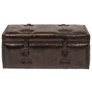 Sarreid LtdLaramie Leather Trunk Bench