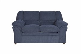 Loveseat - Indigo Chenille Finish