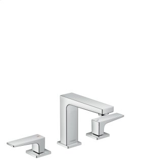 Chrome Metropol 110 Widespread Faucet with Lever Handles, 1.2 GPM