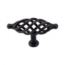 Oval Large Twist Knob 3 1/4 Inch - Patina Black