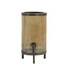 Table lamp 17x31 cm TJARD glass gold luster+antique bronze