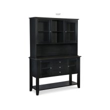Server with Hutch in Coal & Black