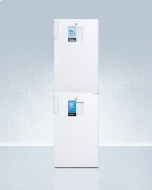 Ff511lpro Auto Defrost All-refrigerator With Digital Controls Stacked With Manual Defrost Fs407lpro All-freezer, Both With Factory-installed Probe Holes