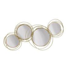 Looped Gold 4 Circle Mirrors,wb