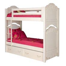 Bunk Bed, Twin, Vintage White