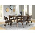 Malone Mid-century Modern Square Five-piece Dining Set Product Image