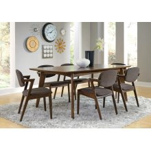 Malone Mid-century Modern Square Five-piece Dining Set