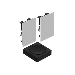 SonosBlack- In-Wall Set