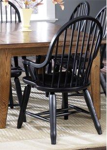 Bow Back Arm Chair - Black