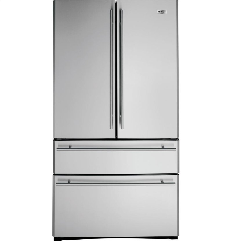 Ge Monogram 20 7 Cu Ft French Door Two Drawer Free Standing Refrigerator