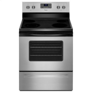 Whirlpool® 5.3 Cu. Ft. Freestanding Electric Range with Easy Wipe Ceramic Glass Cooktop - Universal Silver - UNIVERSAL SILVER