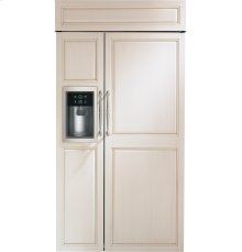 "Monogram 42"" Built-In Side-by-Side Refrigerator with Dispenser"