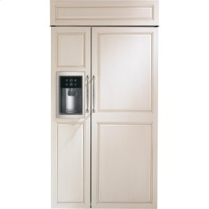 "MonogramMonogram 42"" Smart Built-In Side-by-Side Refrigerator with Dispenser"