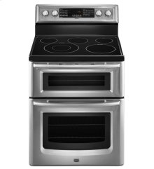 6.7 cu. ft. Capacity Double Oven Electric Range with Even-Air Convection