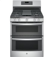 """GE® 30"""" Free-Standing Gas Double Oven Convection Range Product Image"""