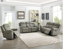Wriston PWR/PWR Taupe Console Recliner Loveseat 77x38x41