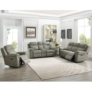 """Steve Silver Co.Wriston PWR/PWR Recliner Sofa Taupe 87"""" x 38"""" x 41"""""""