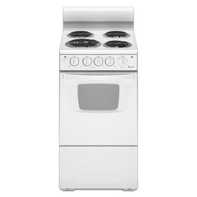 20 in. Electric Range with ADA Compliant Front Controls - white